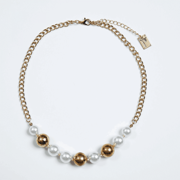 TWO TONED PEARL NECKLACE