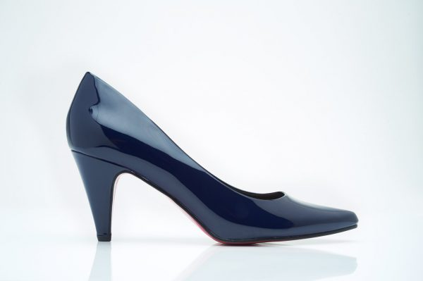 women's navy work pump
