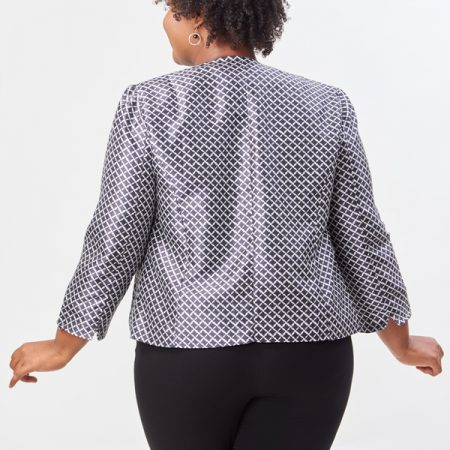 HOUNDSTOOTH PRINTED JACKET