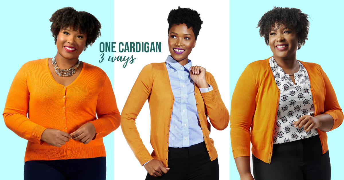 solid button cardigans