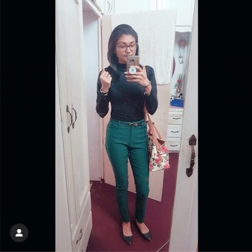 hunter green ankle pants